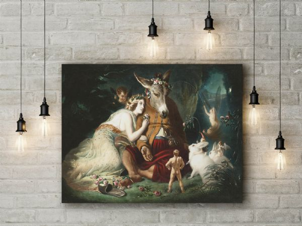 Sir Edwin Landseer: A Midsummer Night's Dream. Fine Art Canvas.